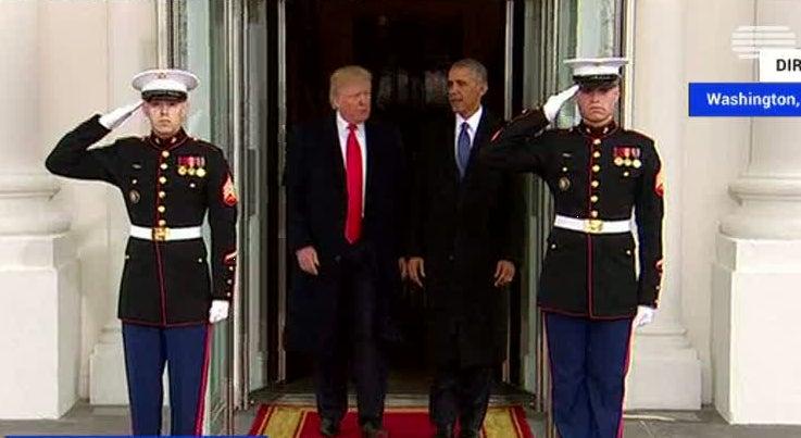 Mundo - Donald Trump e Barack Obama deixam a Casa Branca