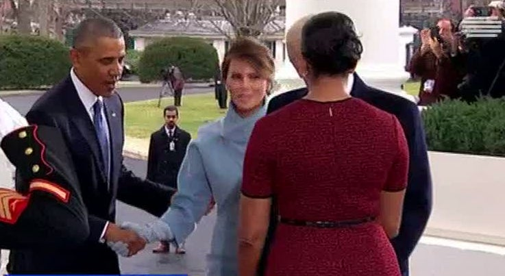 Mundo - Barack Obama recebe casal Trump na Casa Branca