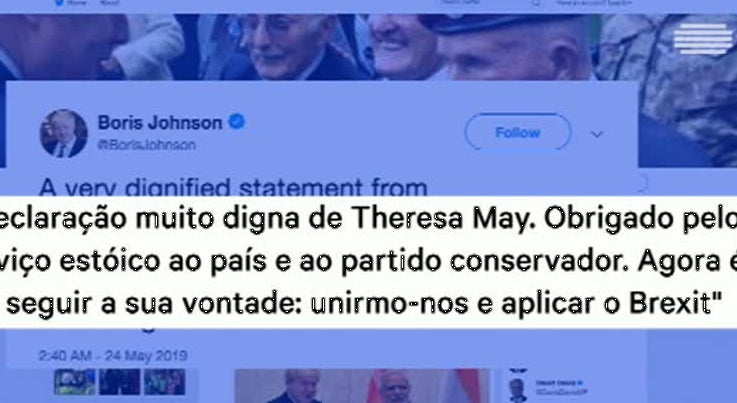 As reações de Boris Johnson e Jeremy Corbyn à demissão de Theresa May