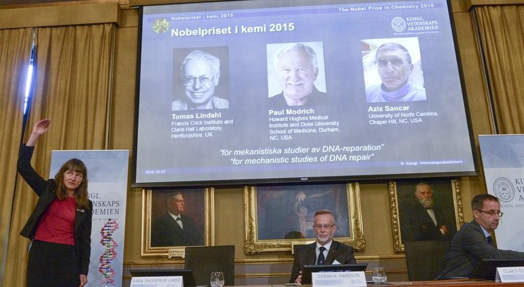 Nobel da Qu�mica para mapeamento da repara��o do ADN
