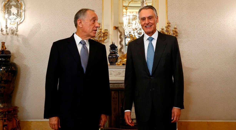 Cavaco deu boas-vindas a Marcelo no Palácio de Belém