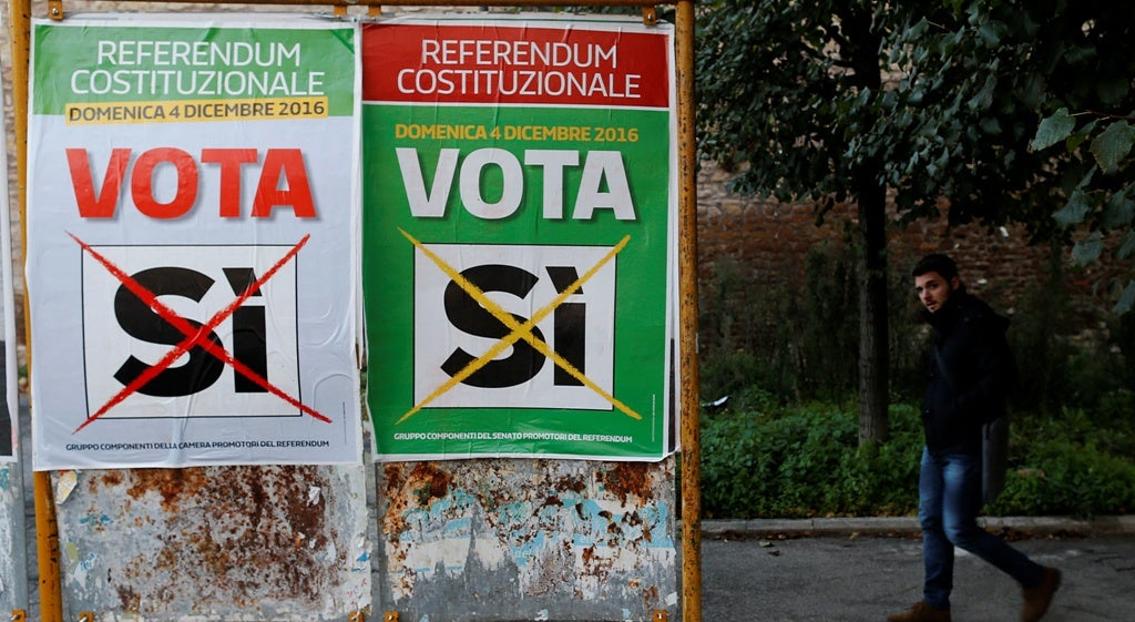 Mundo - Pouco interesse em Itália para votar no referendo