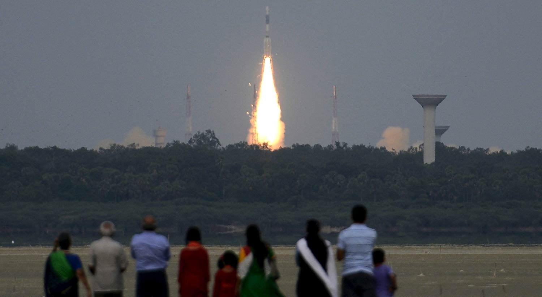 Imagem de arquivo de um lançamento de uma plataforma na Índia | Reuters