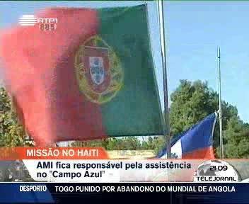 Terminou ajuda humanit�ria da equipa portuguesa