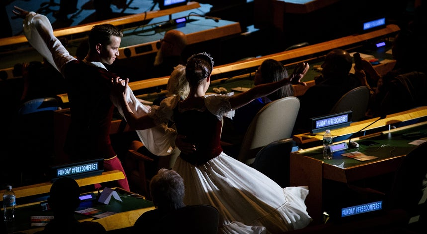Bailarinos na ONU