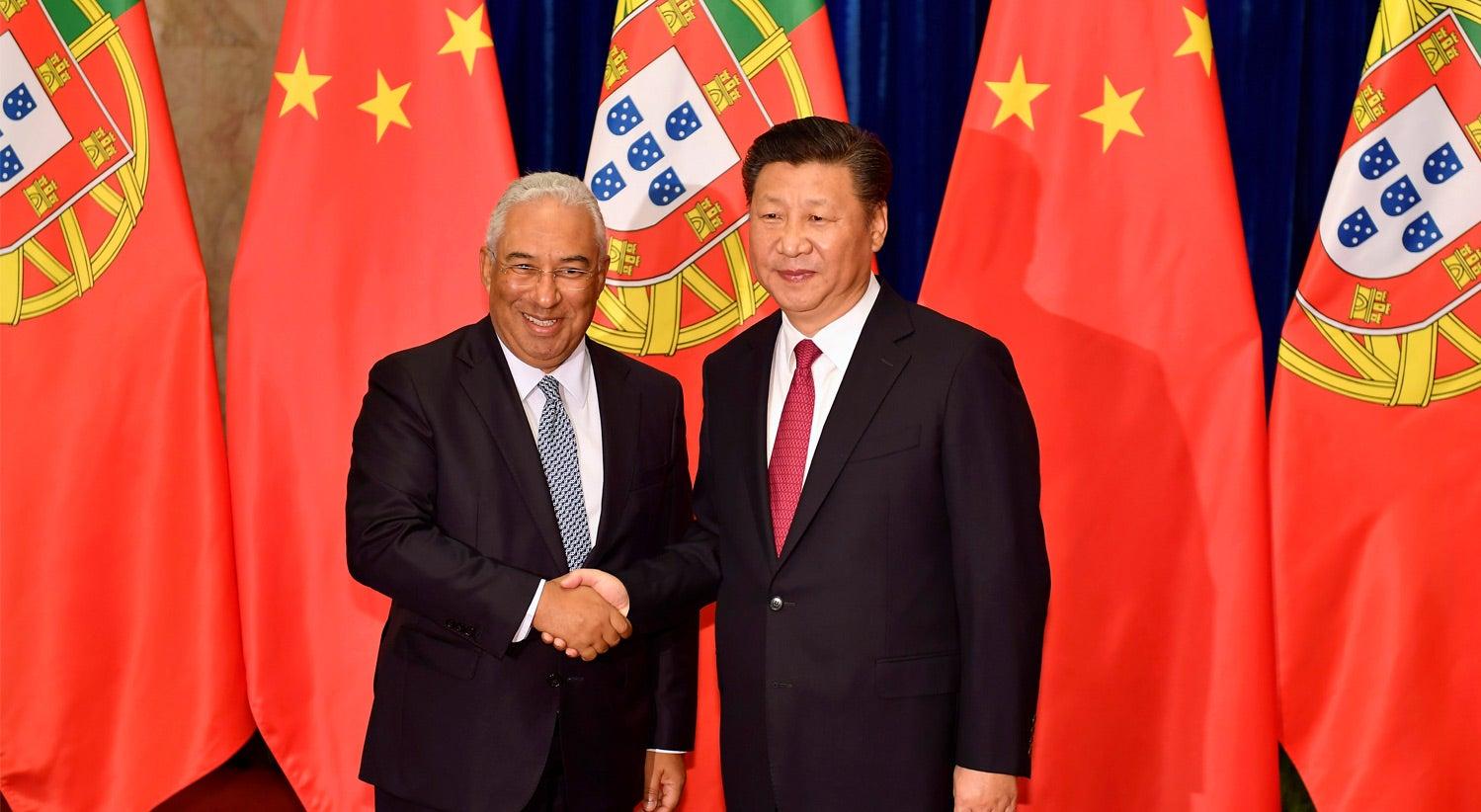 Portugal no topo da lista de destinos do investimento chinês