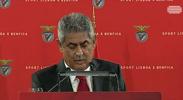 Vieira reeleito afirma que s�cios do Benfica votaram na continuidade
