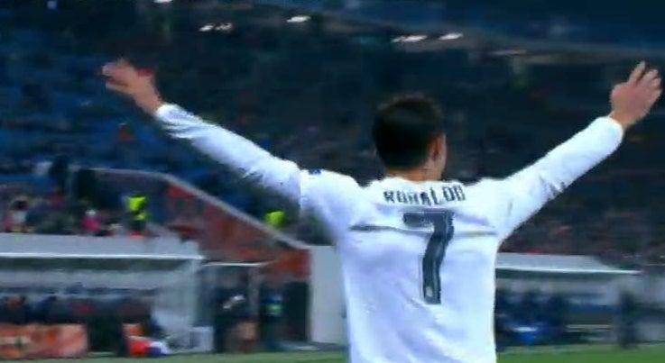 Liga dos Campe�es - Cristiano Ronaldo nos quatro golos do Real Madrid na Ucr�nia