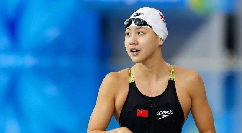 Resultado de imagem para Nadadora chinesa banida por dois anos