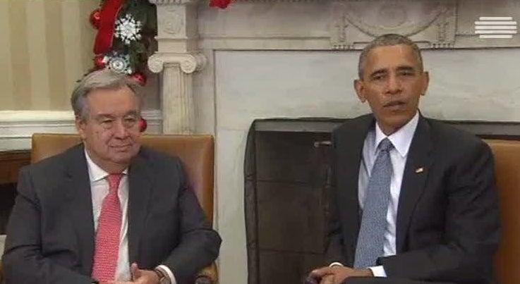 Mundo - António Guterres foi recebido por Barack Obama