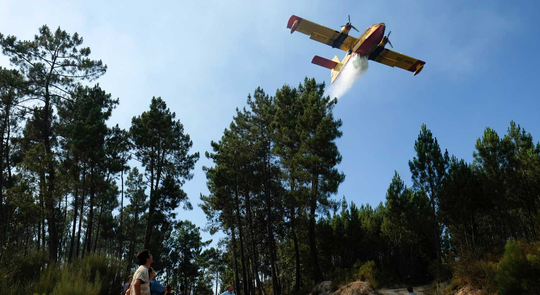 Dois meios aéreos reforçam combate às chamas — Vila Real