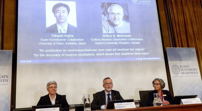 Cientistas respons�veis pela descoberta de massa no neutrino vencem Nobel da F�sica