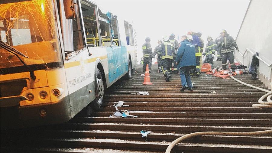 Autocarro abalroa várias pessoas no metro de Moscovo
