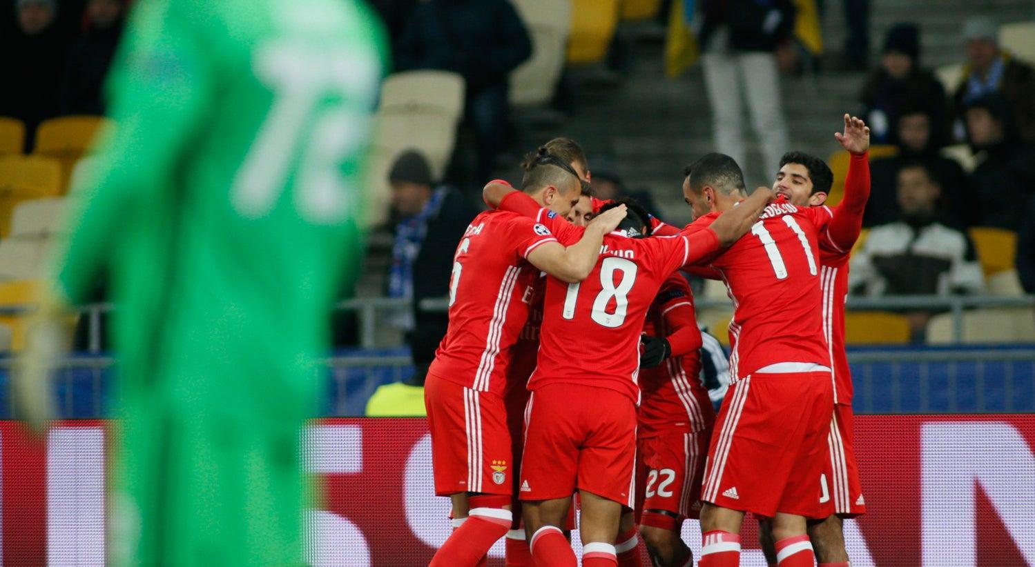 Benfica consegue primeiro triunfo na Liga dos Campeões