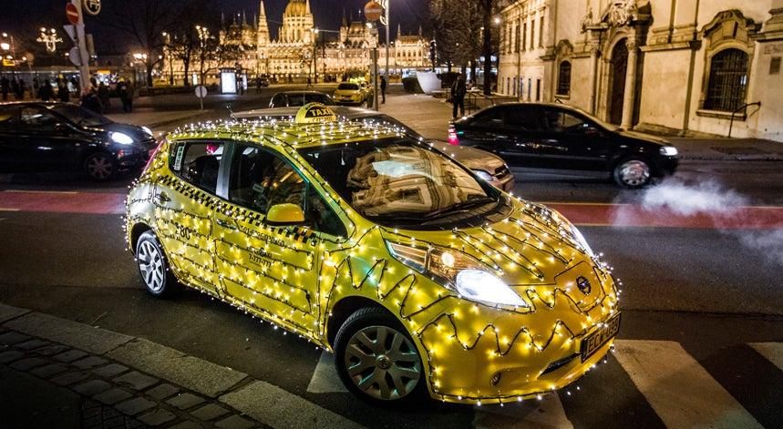 Um táxi de Natal