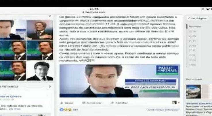 Paulo de Morais faz apelo nas redes sociais para pagar campanha