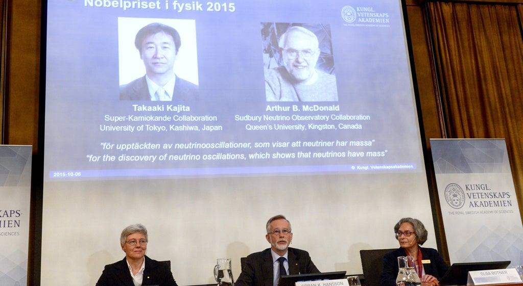 Confirma��o de massa nos neutrinos vale Nobel da F�sica