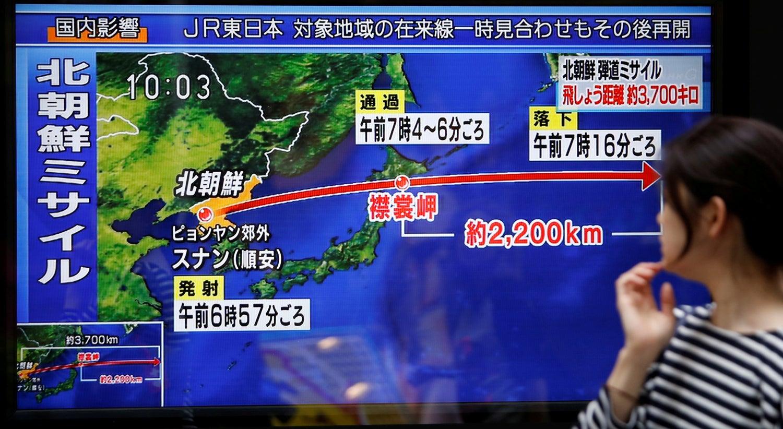 Coreia do Norte volta a lançar um míssil sobre o Japão