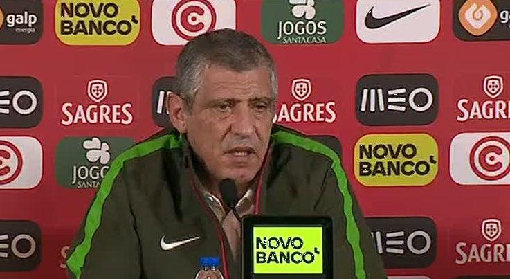 Fernando Santos diz que Portugal � favorito mas espera jogo complicado