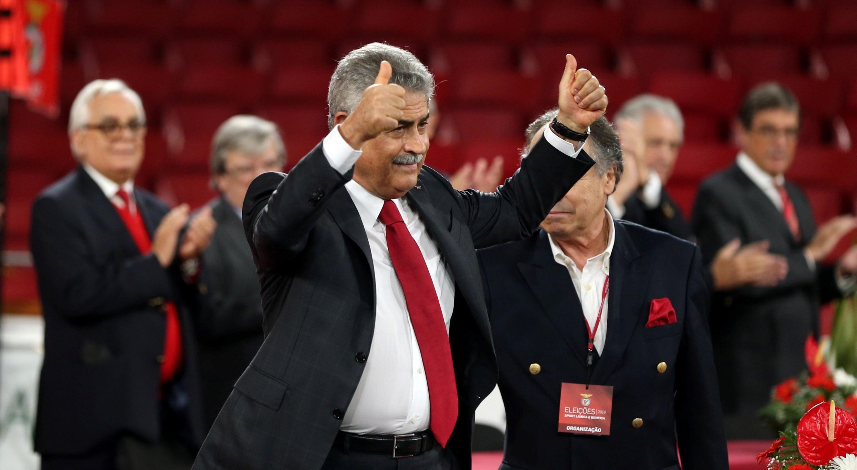 Lu�s Filipe Vieira quer manter a lideran�a do futebol portugu�s