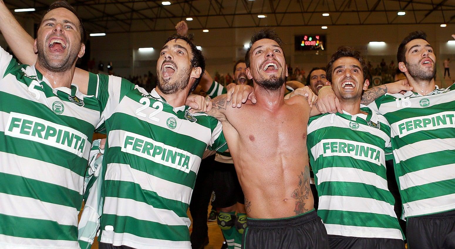 Ricardo Figueira e a motiva��o da equipa de h�quei em patins do Sporting