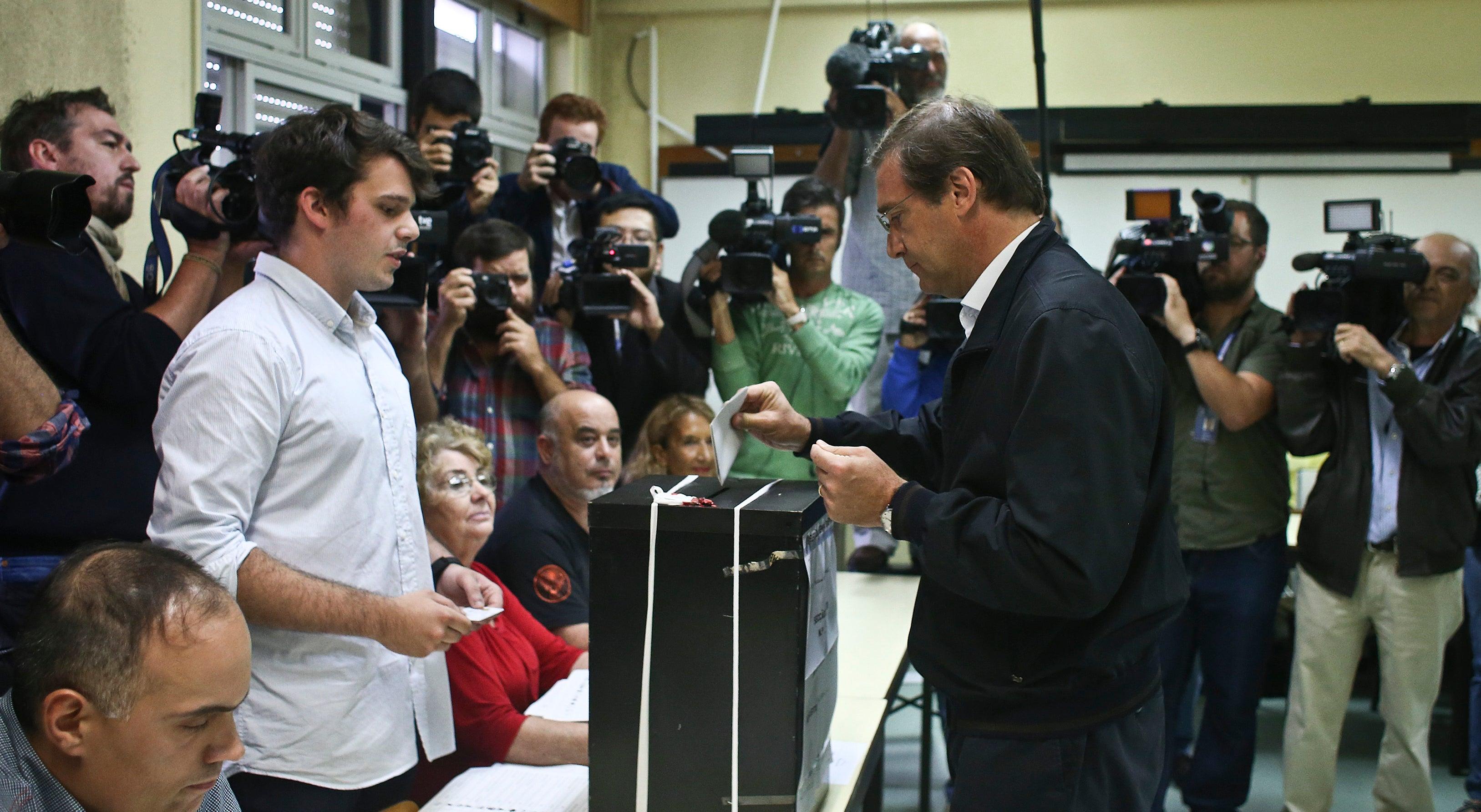 Passos pede aos portugueses que contrariem a absten��o - siga em direto o dia eleitoral