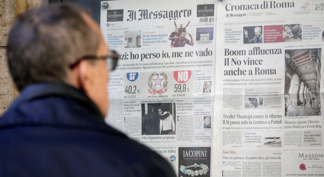 Mundo - Itália, o que diz o povo italiano dos resultados do referendo