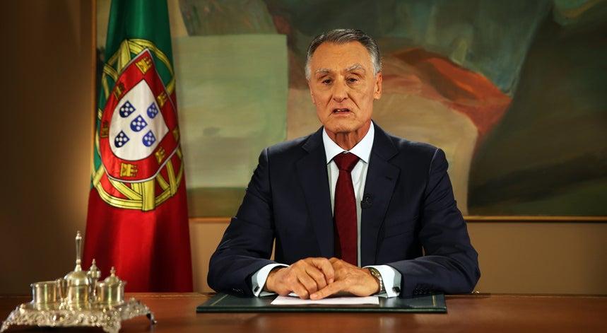 Cavaco faz comunica��o ao pa�s sobre novo governo