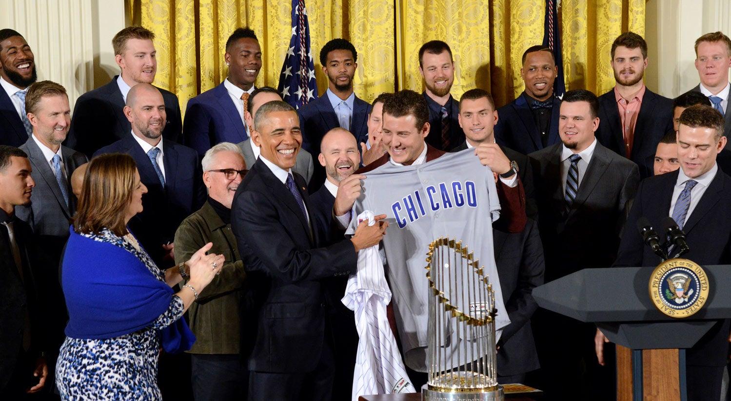 Barack Obama recebeu os Chicago Cubs