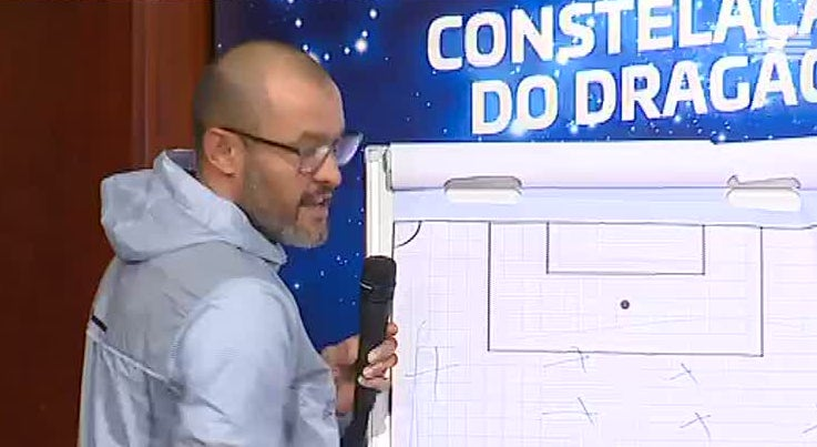 FC Porto - Treinador do FC Porto dá a táctica com ilustração gráfica