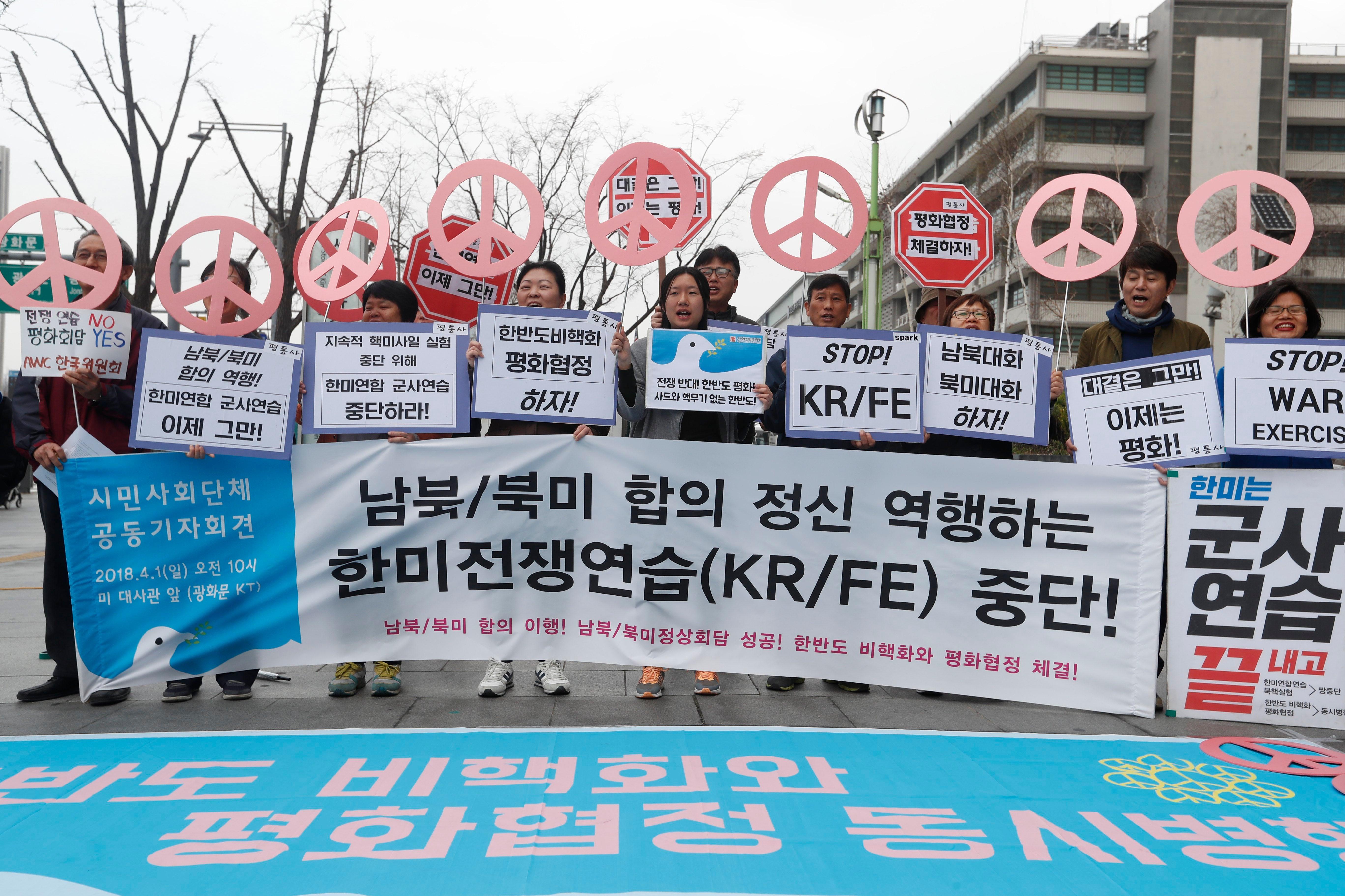 Washington e Seul iniciam manobras militares conjuntas