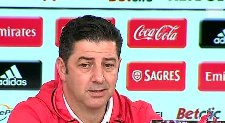 Desporto - Rui Vitória diz que só pensa no jogo com o Marítimo e recusa falar do Nápoles e do Sporting
