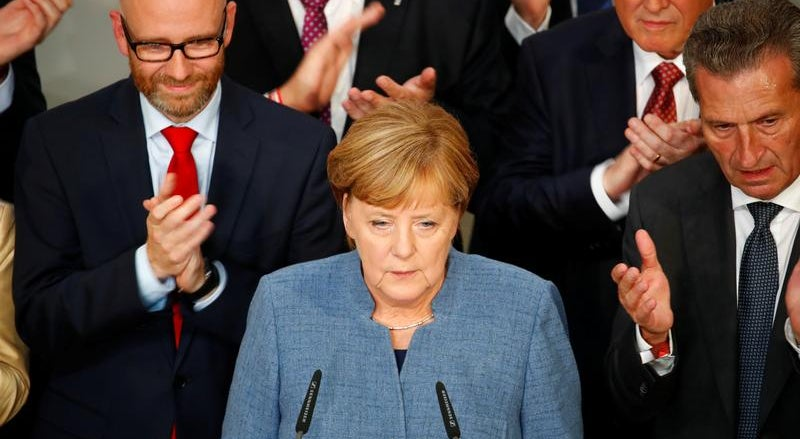 Angela Merkel assume resultado aquém do esperado