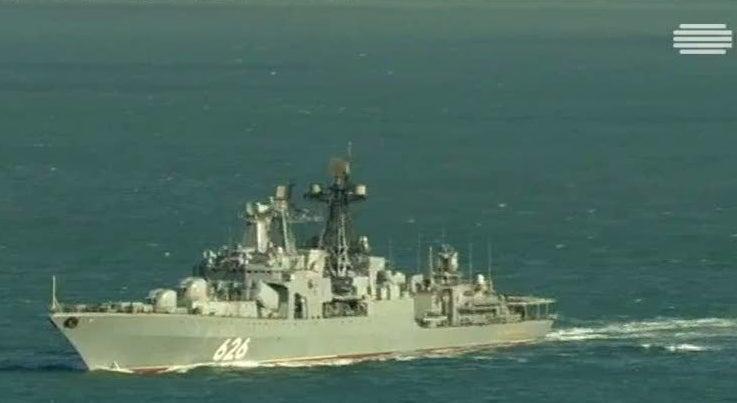 Mundo - Navios de guerra russos passam ao largo da costa portuguesa