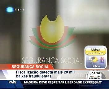 Seguran�a Social descobre mais de 67 mil baixas fraudulentas