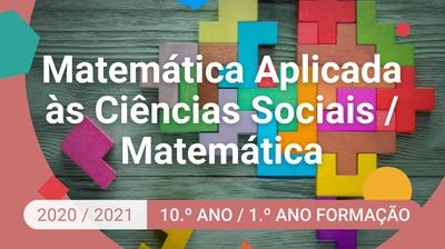 Play - Matemática Aplicada às Ciências Sociais / Matemática - 10.º Ano