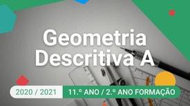 Geometria Descritiva A - 11.º Ano - Secções em cones produzidas por planos de perfil.