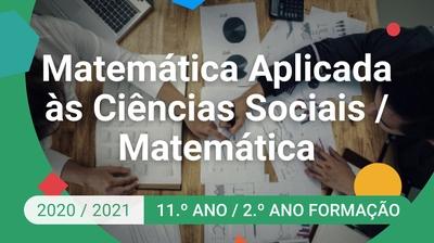 Play - Matemática Aplicada às Ciências Sociais / Matemática - 11.º Ano
