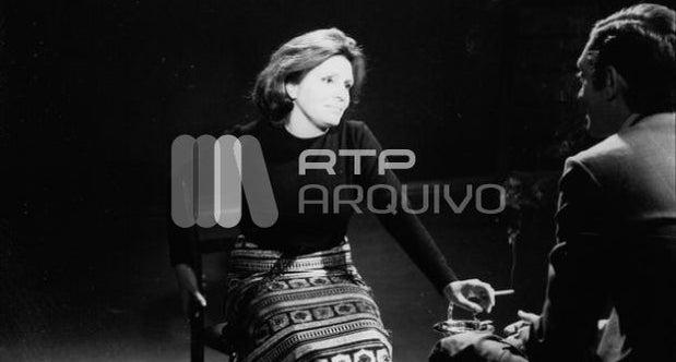 Amália Rodrigues no Estúdio B do Lumiar