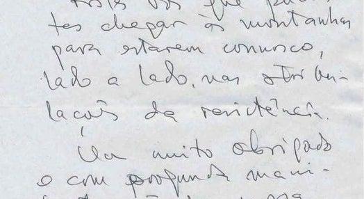 Carta de Xanana Gusmão para a RDP