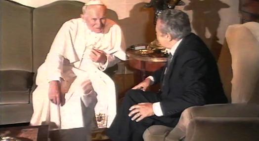 Mário Soares Recebe João Paulo II em Belém