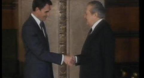 O Dia da Tomada de Posse de Mário Soares para um Segundo Mandato como Presidente da República.