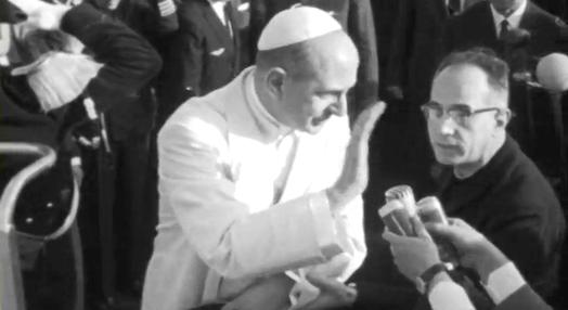 Partida de Paulo VI para Portugal