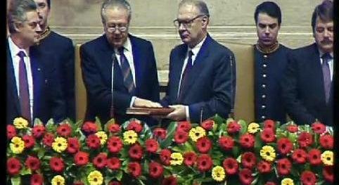 Tomada de Posse de Mário Soares para um Segundo mandato como Presidente da República