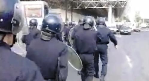 Manifestação termina em violência