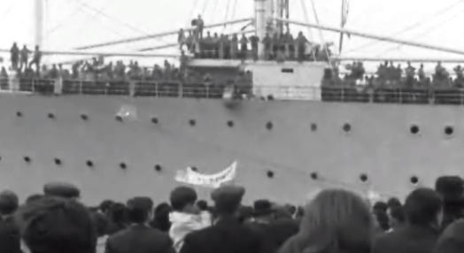 Chegada de militares portugueses a Lisboa