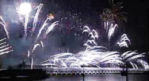 Fogo de artificio no encerramento da Expo 98