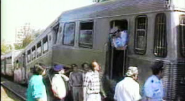 Choque de comboios na Cruz da Pedra