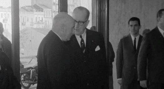 Visita de Américo Tomás à Fundação Gulbenkian