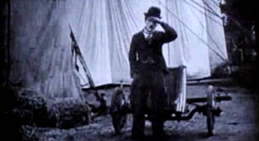 """Projeção de """"O Circo"""" de Charlie Chaplin"""